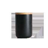 炻瓷儲物罐系列D10.5xH14cm啞黑