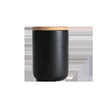 炻瓷储物罐系列D10.5xH14cm哑黑
