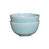 龙泉原矿粉青釉餐具碗盘【2件装】玉青碗