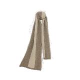 羊绒原色拼接围巾深棕