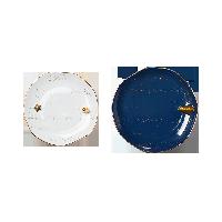 星空立体月兔点心盘【优惠组合装】大号星空蓝点心盘+小号月光白点心盘