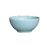 龙泉原矿粉青釉餐具碗盘【1件装】17cm素面深碗
