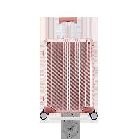 24寸碳纖維紋鋁鎂拉桿箱玫瑰金