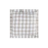 日式水洗棉格纹抱枕套66cmx66cm(仅抱枕套)*抹茶咖