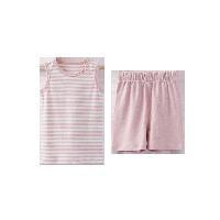 小童草木染背心套裝 2-7歲粉色*90cm