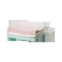 六层超柔纱布方巾(婴童)白色+粉色+绿色