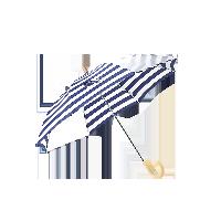 日式儿童雨伞蓝白条纹