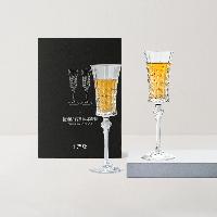 水晶玻璃香槟对杯礼盒2只装