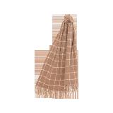 驼绒原色格子围巾驼绒原色