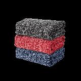 精梳AB纱格毛巾红色+蓝色+灰色