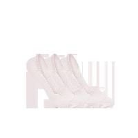 女式纯色抑菌隐形袜粉色(三双装)