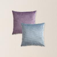 【618限时】绒面方格抱枕套抱枕套*灰紫