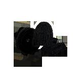 纯色羊绒混纺三件套装黑色(围脖+帽子+手套)