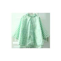 海軍小斗篷雨衣綠白格子