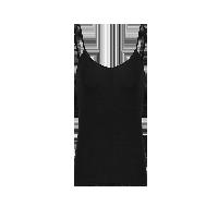 女式莫代爾打底吊帶/背心吊帶黑色*S