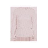 女式可机洗圆领纯羊毛衫浅粉色*S(160/80A)≈165g