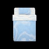 日式全棉针织三件套宝石蓝