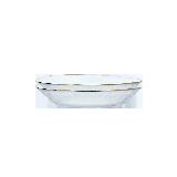 金边冷纹玻璃餐具【2件装】直径22cm