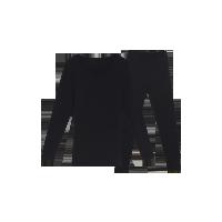 女式咖啡碳保暖内衣(可单买上衣/裤子)黑色套装*S