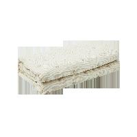天然亚麻绗绣婴儿盖毯麻本色