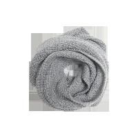 纯色羊绒混纺针织围脖灰色