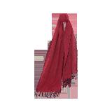 100%羊毛 风致AB面围巾浆果红(红黑)