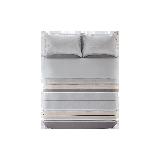 北欧磨毛印花四件套条纹*1.8m床:适用2.2mx2.4m被芯