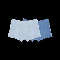 有機棉平角內褲(男童)130*淺藍+深藍