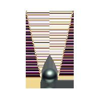 大溪地黑珍珠项链(多款可选)路路通款(18K金-金色)*8-9mm