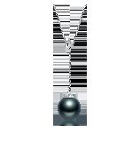 大溪地黑珍珠项链(多款可选)Y字调节款(18K金-银色)*9-10mm