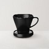 扇形陶瓷滤杯(含杯托)【超会专享】黑色