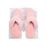 经典羊皮毛一体居家拖鞋粉色39码
