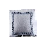 色織水洗棉繡花抱枕套縹藍色*45*45cm