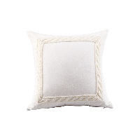 色織水洗棉繡花抱枕套象牙白*45*45cm