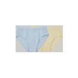 有機棉三角內褲(女童)130*淺粉+淺黃