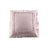 色织水洗棉绣花抱枕套赤紫色*45*45cm