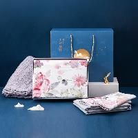 花好月圓睡眠禮盒1.5m四件套(適用2mx2.3m被芯)+蓋毯