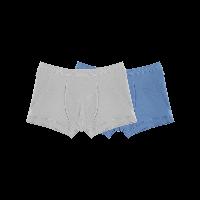 有機棉平角內褲(男童)130*灰色+深藍