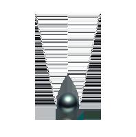 大溪地黑珍珠项链(多款可选)路路通款(18K金-银色)*9-10mm