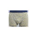 男式色織英倫內褲M*黃灰窄條紋