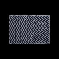 纯棉简欧条纹针织盖毯藏蓝