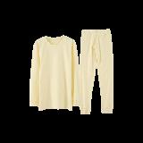 超柔软 有机棉保暖套装(女童)130*浅黄