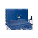 泰國制造 天然乳膠枕 玻尿酸豪華禮盒夜空藍