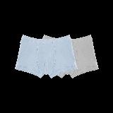 有機棉平角內褲(男童)130*淺藍+灰色