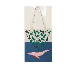 主題印花帆布袋海藍之鯨