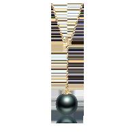 大溪地黑珍珠项链(多款可选)Y字调节款(18K金-金色)*8-9mm