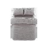 全棉色织绗缝多用件套灰紫*1.5m(5英尺)床