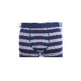 男式色织英伦内裤L*藏青宽条纹