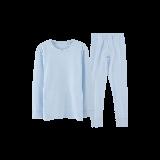 超柔软 有机棉保暖套装(男童)110*浅蓝
