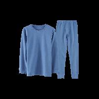 超柔软 有机棉保暖套装(男童)140*深蓝